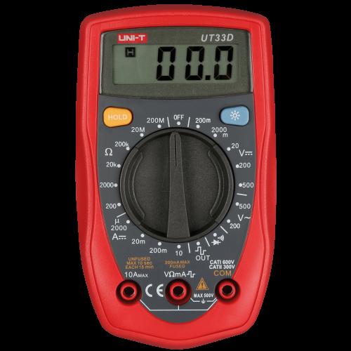 Digitale multimeter RMS 1999 Cijfers 250 VAC 250 VDC 10 ADC