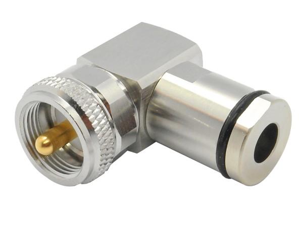 UHF / PL Winkelstecker für 5mm
